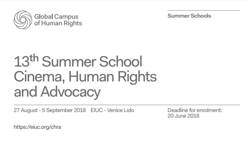 EIUC & CHRA's 13th Cinema Human Rights and Advocacy Summer School [27th Aug-5th Sept]