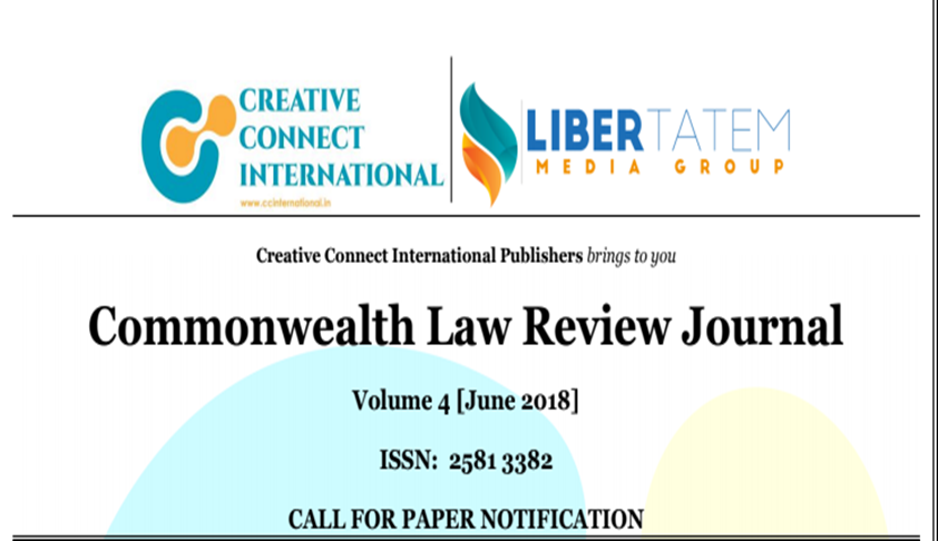 Call for Papers: Commonwealth Law Review Journal [Vol 4]