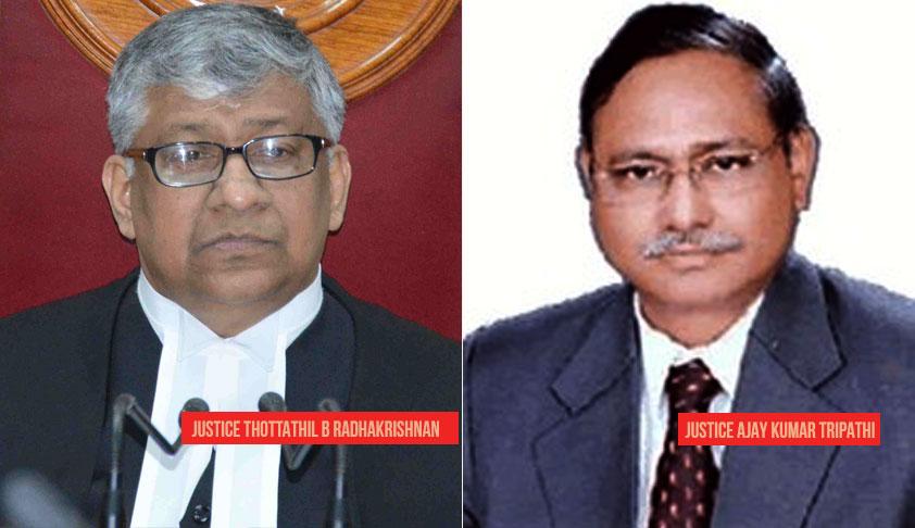 Breaking: Justice TB Radhakrisnan Appointed As New CJ Of Telangana & AP HC, Justice AK Tripathi  New Chhattisgarh CJ [Read Notifications]
