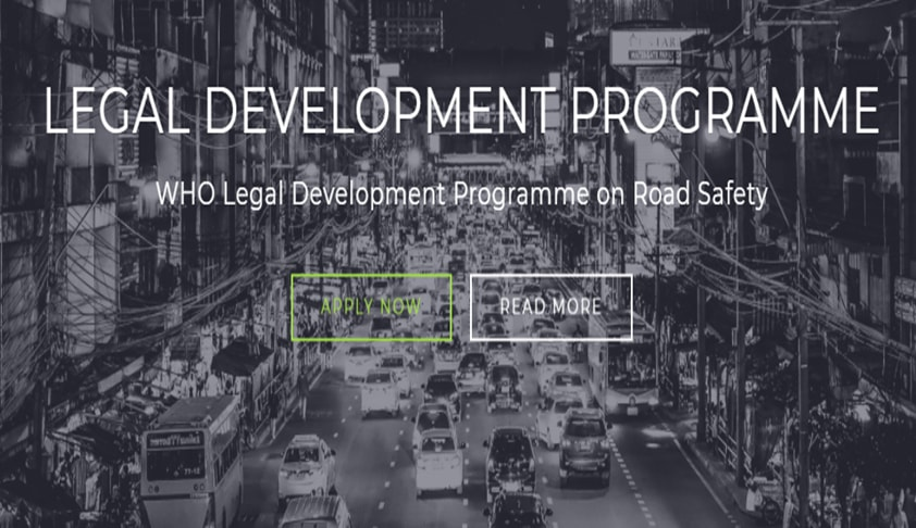 Call for Applications: Lawxy-WHO Legal Development Programme on Road Safety