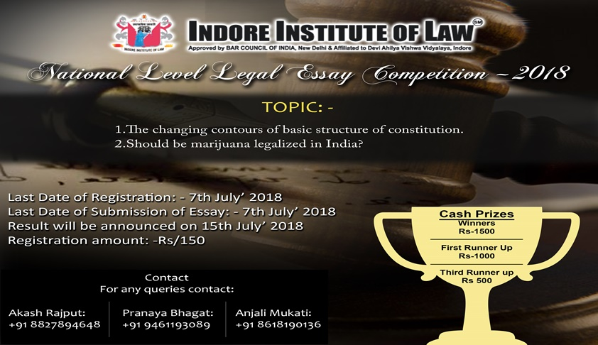 Call For Submissions: Indore Institute Of Law's Nat'l Legal Essay Competition