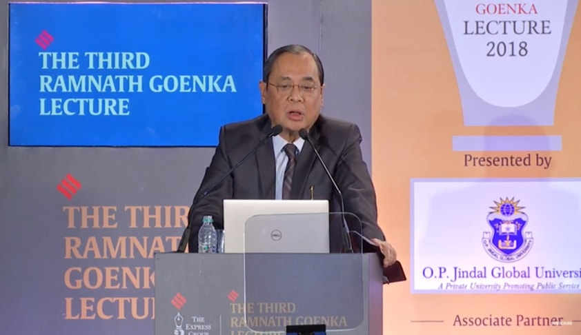 Sometimes We Need Independent Journalists And Noisy Judges : [Read Full Text Of Justice Ranjan Gogoi's Speech At RNG Memorial Lecture]
