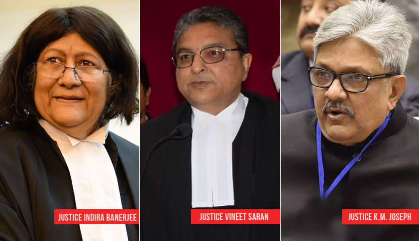 Justice KM Joseph To Be Junior To Justices Indira Banerjee And Vineet Saran In Supreme Court
