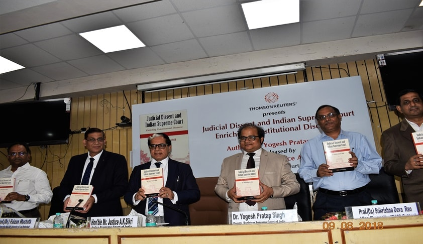 Justice Sikri Releases Yogesh Pratap's Book on Judicial Dissent