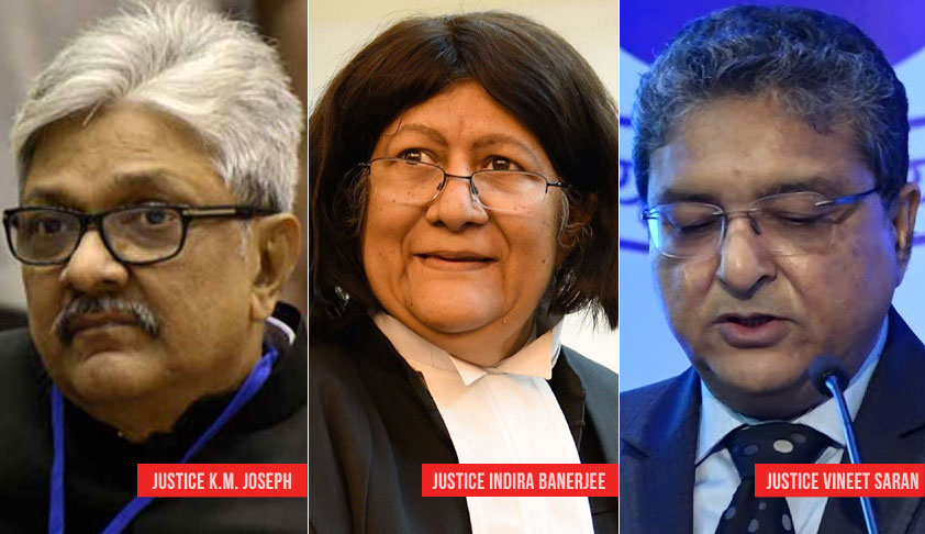Impasse Set To End? Centre To Notify Justice KM Joseph's Name With Justice Indira Banerjee and Justice Vineet Saran For Elevation To SC: Reports