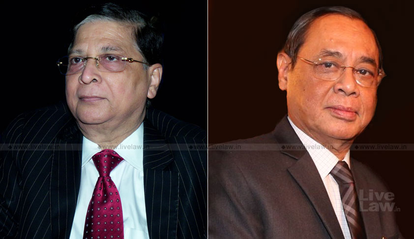 CJI Misra Recommends Justice Ranjan Gogoi As The Next Chief Justice Of India