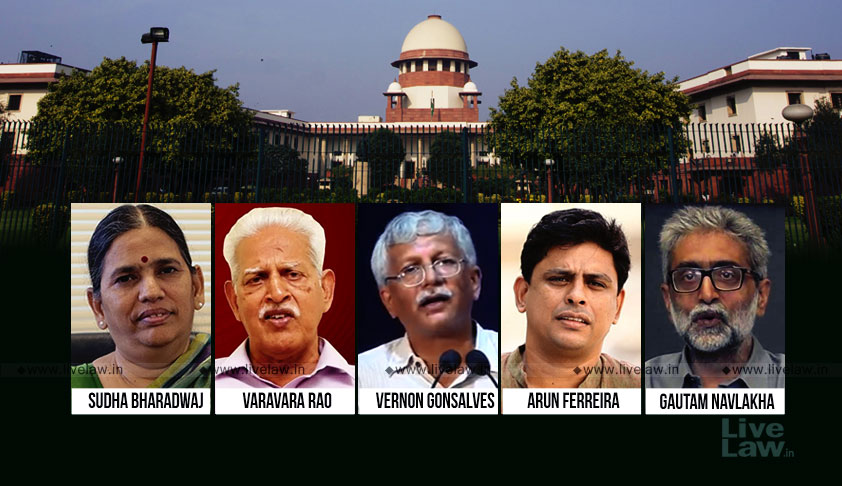 Breaking:Not A Case Of Arrest For Dissent, SC Turns Down Plea For SIT In Bhima Koregaon Case By 2:1 Majority, Chandrachud.J Dissents [Read Judgment]