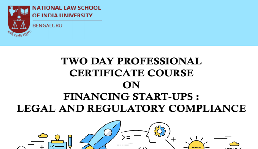 NLSIU's Certificate Course On Financing Start-Ups [24th-25th Nov]
