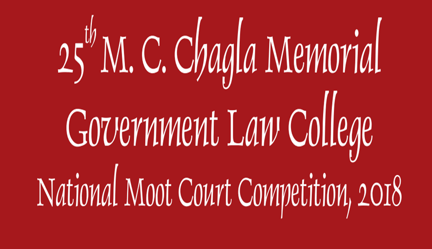 GLC To Host 25th M.C. Chagla Moot Competition On 22nd-23rd Sept