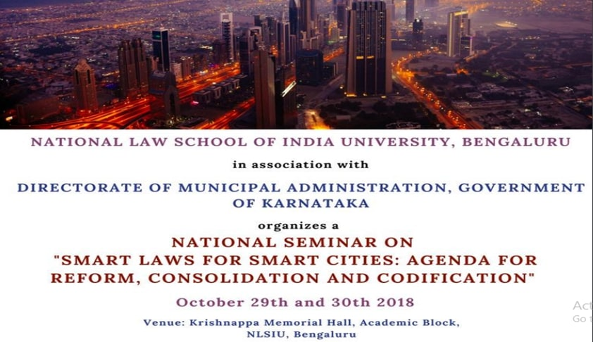 Call For Papers: NLSIU's National Seminar On Smart Cities [29th-30th Oct]