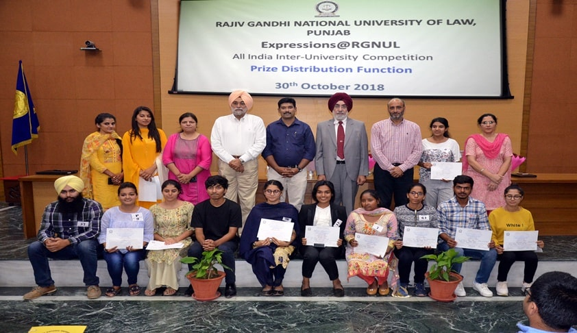D.A.V. University Jalandhar Adjudged Best Team at Expressions@RGNUL