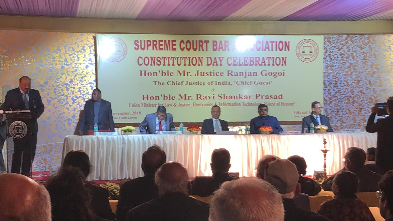 Constitution Day Celebration Was Organized By Supreme Court,Not By The Govt : CJI Clarifies To SCBA President Who Praised Govt. For The Initiative