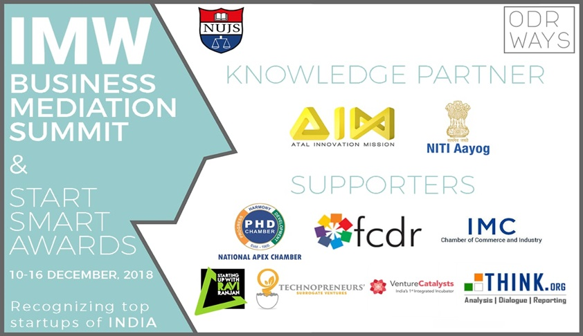 "NUJS And ODRways To Organise ""IMW Business Mediation Summit"" In Collaboration With NITI Aayog"