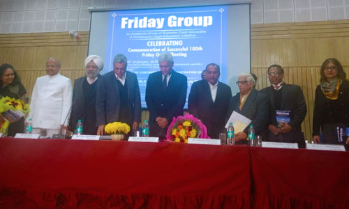 Supreme Court Advocates Friday Group Holds 100th Lecture On January 4