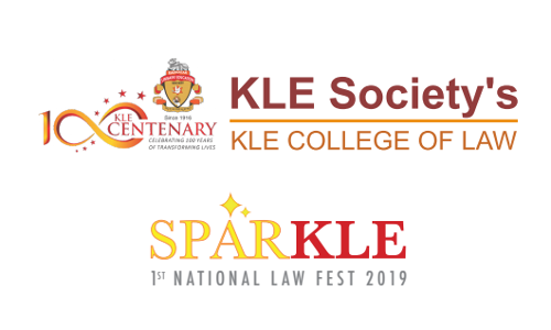 National Moot Court Competition 2019 At SPARKLE, KLE National Law Fest 2019