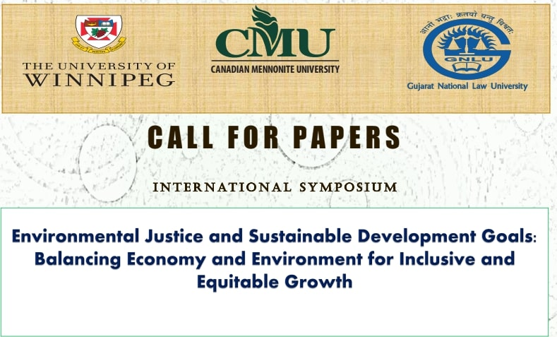 Call For Papers: International Symposium On Environment Justice & Sustainable Development Goals, GNLU