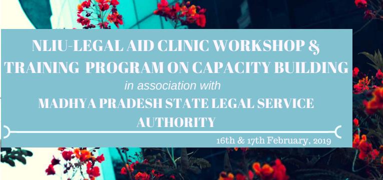 NLIU Bhopal To Hold Legal Aid Workshop And Training Program [16-17 Feb]