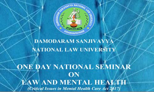 DSNLUs National Seminar On Mental Health [7 Mar]
