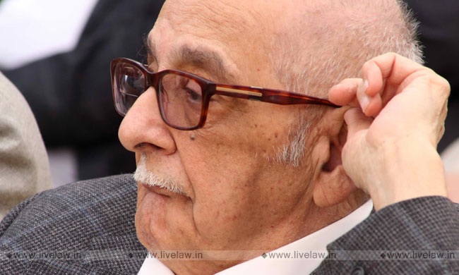 Fali Nariman To Talk On Ethics In Law At Sathya Sai Int