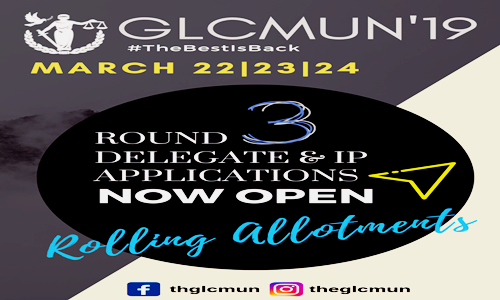 Applications Invited For Round Three Of Delegate Applications Of GLCMUN