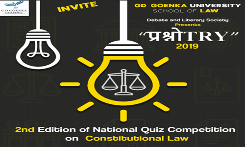2nd National Quiz Competition Organized At GD Goenka University, School Of Law