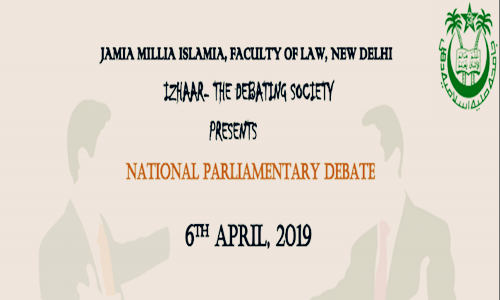 National British Parliamentary Debate At Jamia Millia Islamia, Delhi