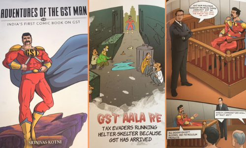 """Adventures Of The GST Man"" India"