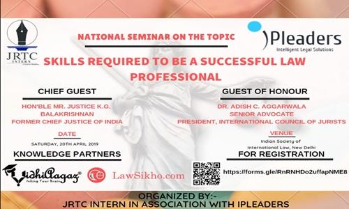 JECRCs National Summit On Skill Development For Law Students [April 20; New Delhi]