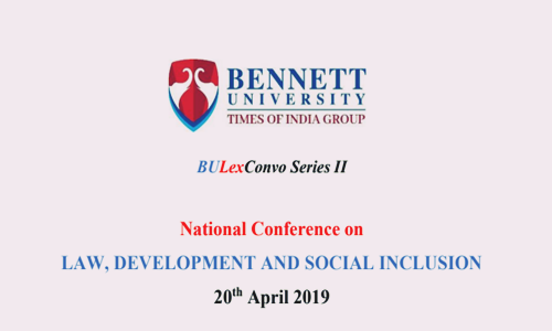 BULexConvo Series II, Conference At Bennett University, Greater Noida