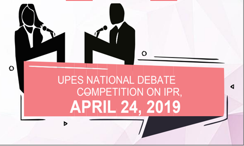 Debate Competition On IPR At UPES, Dehradun