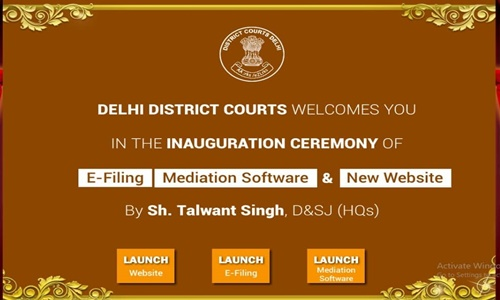 Now District Court In Delhi Launches E-Filing For Arbitration Matters, Test Run On