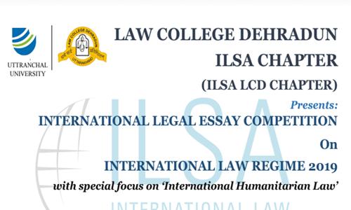 Essay Competition On International Law Regime At Law College Dehradun