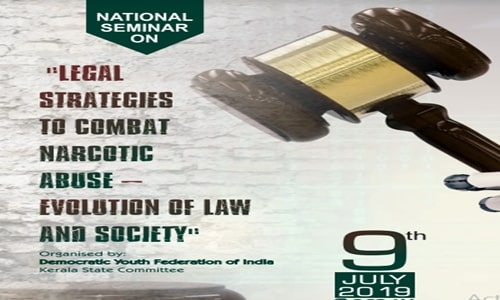 DYFI To Organise Seminar On Combating Narcotic Abuse [9th July; Ernakulum]