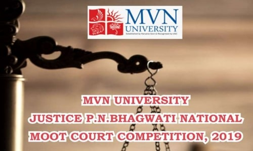 Justice P N Bhagwati Moot Court Competition, 2019 At MVN University, Palwal, Haryana