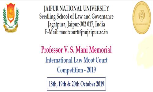 8th Professor V S Mani Memorial Law Moot Court, Jaipur National University