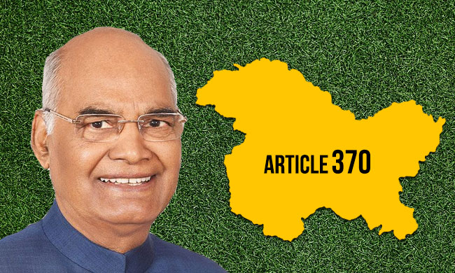 President Issues Notification Amending Article 370 To Repeal Special Status Of J&K