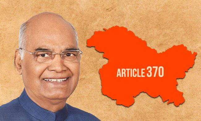 President Promulgates Constitution (Application to Jammu & Kashmir) Order, 2019 [Read Order]