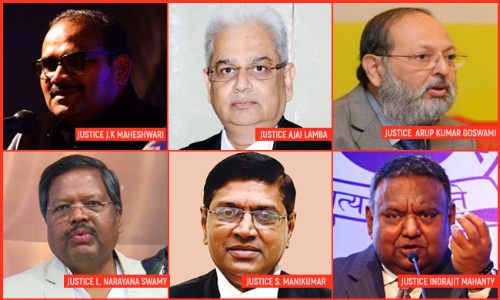 Centre Notifies Appointments Of Chief Justices Of High Courts Of MP, AP, Kerala, Rajasthan, Gauhati, HP &Sikkim