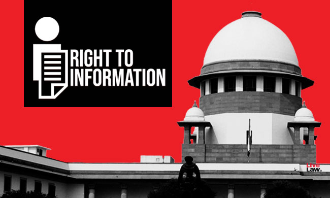 Court Rules & RTI : SC Verdict Subverts Right To Information