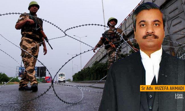 Kashmir Situation Similar To Undeclared Emergency : Sr Adv Huzefa Ahmadi