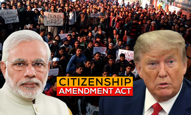 Citizenship Amendment Act 2019: Modi Government Pulls  A (Donald) Trump Card