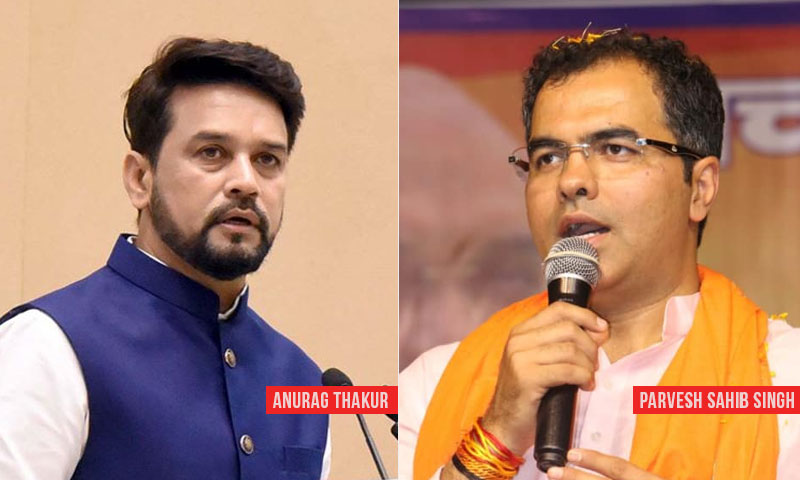 ECI Orders Removal Of Anurag Thakur & Parvesh Singh As BJP Star Campaigners For Delhi Elections