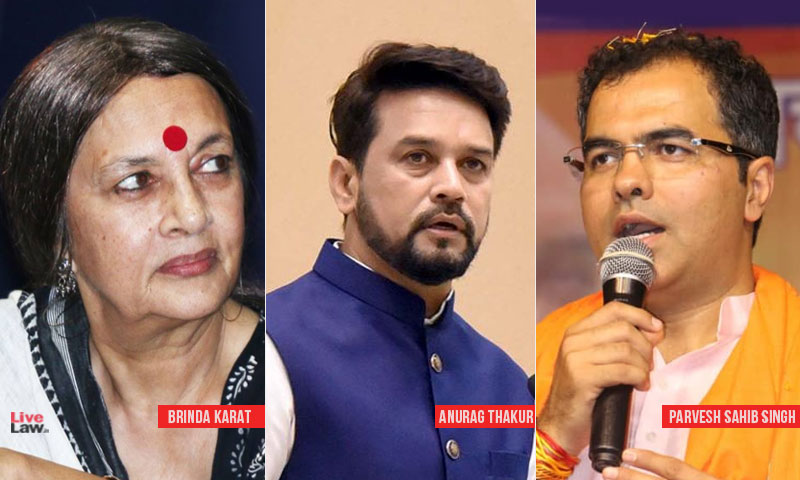 Delhi Court Seeks Police Report On Brinda Karats Plea For FIR Against Anurag Thakur & Parvesh Verma For Hate Speech
