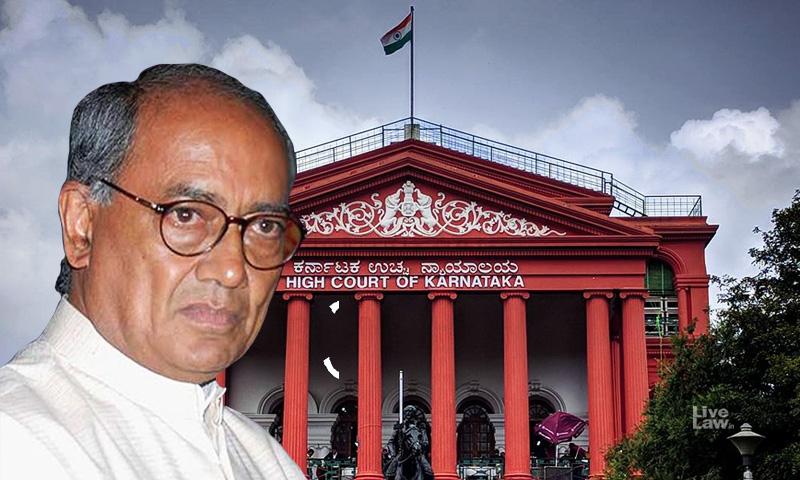 MP Political Crisis : No Interim Relief For Digvijaya Singh From Karnataka HC To Meet Rebel Congress MLAs [Read Order]
