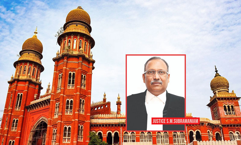 COVID-19: Justice Subramaniam Of Madras HC To Donate 1 Month Salary For Welfare Of Unorganized Labour Force