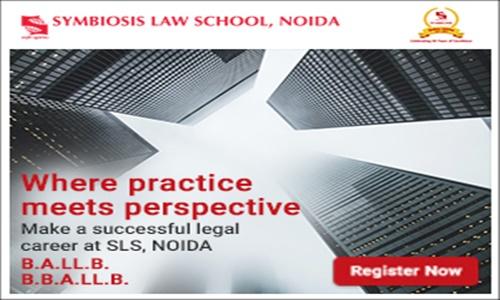 Admission Notification: Symbiosis Law School, Noida (U.P.)