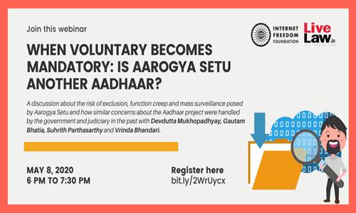 IFF To Organise Webinar On Aarogya Setu [8th May]