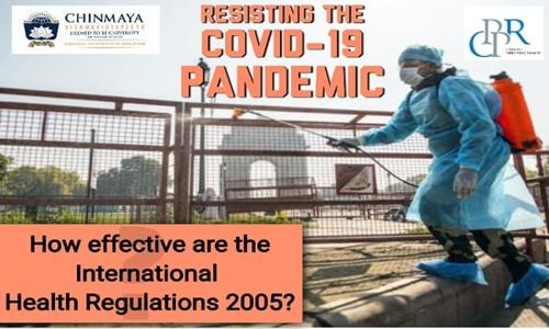 Chinmaya Vishwavidyapeeths Webinar On International Health Regulations [8th May]