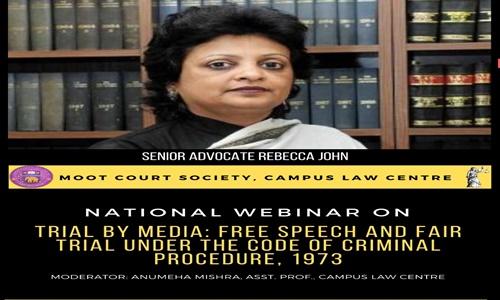CLC Webinar: Senior Advocate Rebecca John On Media Trials [25 May]