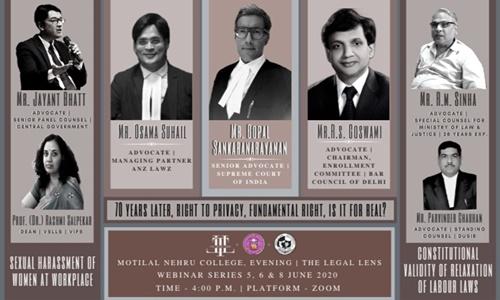 1st Motilal Nehru College & Legal Lens Webinar: Labour Laws [5th June]